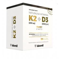 Witamina K2 200 uq + D3 2000 j.m. naturalna, 90 kaps.