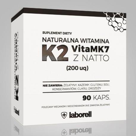 Naturalna witamina K2 vita MK7 z natto 90 kaps