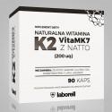 Naturalna witamina K2 vita MK7 200mcg z natto 90 kaps