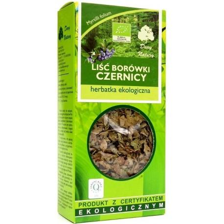Liść borówki czernicy - herbatka ekologiczna  50g
