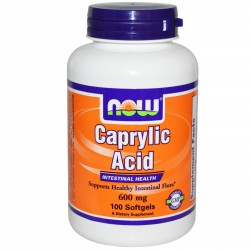 NOW CAPRYLIC ACID 100KAPS.