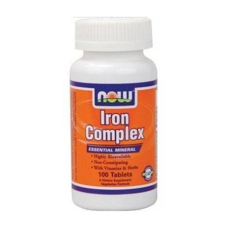 NOW Foods Iron Complex 100 tabl.