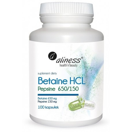 Betaine HCL, Pepsyna 650/150 mg x 100 kps
