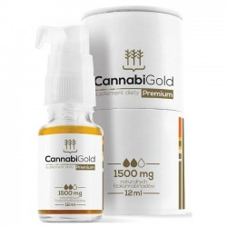 Olejek CBD CannabiGold Premium, 1500mg 12ml
