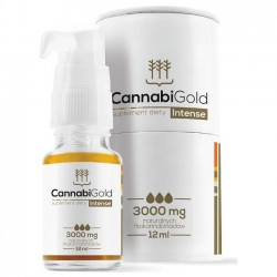Olejek CBD CannabiGold Intense, 3000mg 12ml
